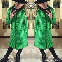 Легкое женское демисезонное пальто на синтепоне 150й плотности