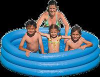Детский надувной бассейн с надувными бортиками Intex 58446: 168х41 см