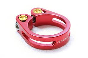 Зажим для подседела KREX 31.8 мм, болтовой, красный