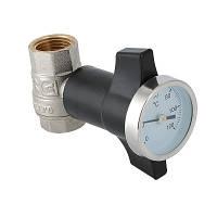 Кран шаровой с термометром Valtec