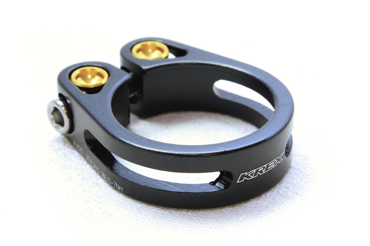 Зажим для подседела KREX 31.8 мм, болтовой, черный