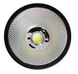 Светодиодный LED светильник 30 Вт накладной  холодный белый квадрат (6500К) Черный, фото 2