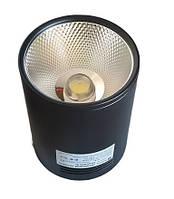 Светодиодный LED светильник 30 Вт накладной  холодный белый квадрат (6500К) Черный, фото 1