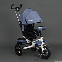 Трехколесный велосипед-коляска, поворотное сиденье 6595, Серый ***