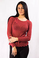 Кофта женская терракотовая с бантиком Mango (S)