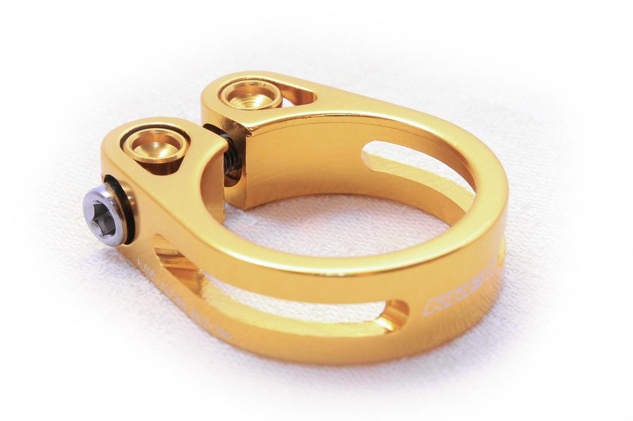 Зажим для подседела KREX 34.9 мм, болтовой, золотой