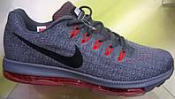 Мужские кроссовки Nike Zoom All Out серые с красной подошвой, размеры с 41 по 45