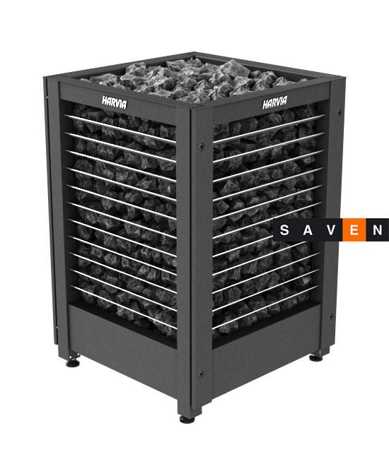 Электрическая печь (каменка)  Harvia Modulo MD180G черная для сауны и бани