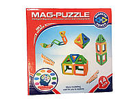 🔝 Детский магнитный конструктор, Mag-Puzzle, развивающий, 14 деталей | 🎁%🚚