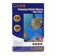 Фотобумага Crystal глянцевая, A6 (10x15), 230 г/м, 100 шт