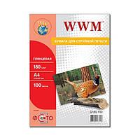 Фотобумага WWM, глянцевая, 180 г/м2, A4, 100л (G180.100)