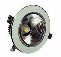 Круглый врезной LED светильник холодный белый 18Вт 6500 К, фото 1