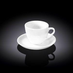 Кофейная чашка и блюдце 110мл. Wilmax WL-993174