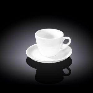 Кофейная чашка и блюдце 75мл. Wilmax WL-993173