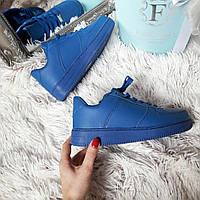 Женские кроссовки Nike air force ярко-синие форс код 228