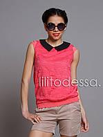 Гипюровая блуза красный, фото 1