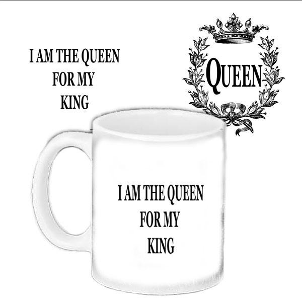 Кружка подарок влюбленным с принтом Королева