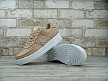 Кроссовки женские Nike Air Force 1 Lab Low Vachetta Tan 30148 бежевые, фото 4
