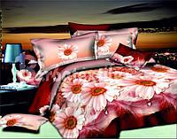 Комплект постельного белья семейный ромашки