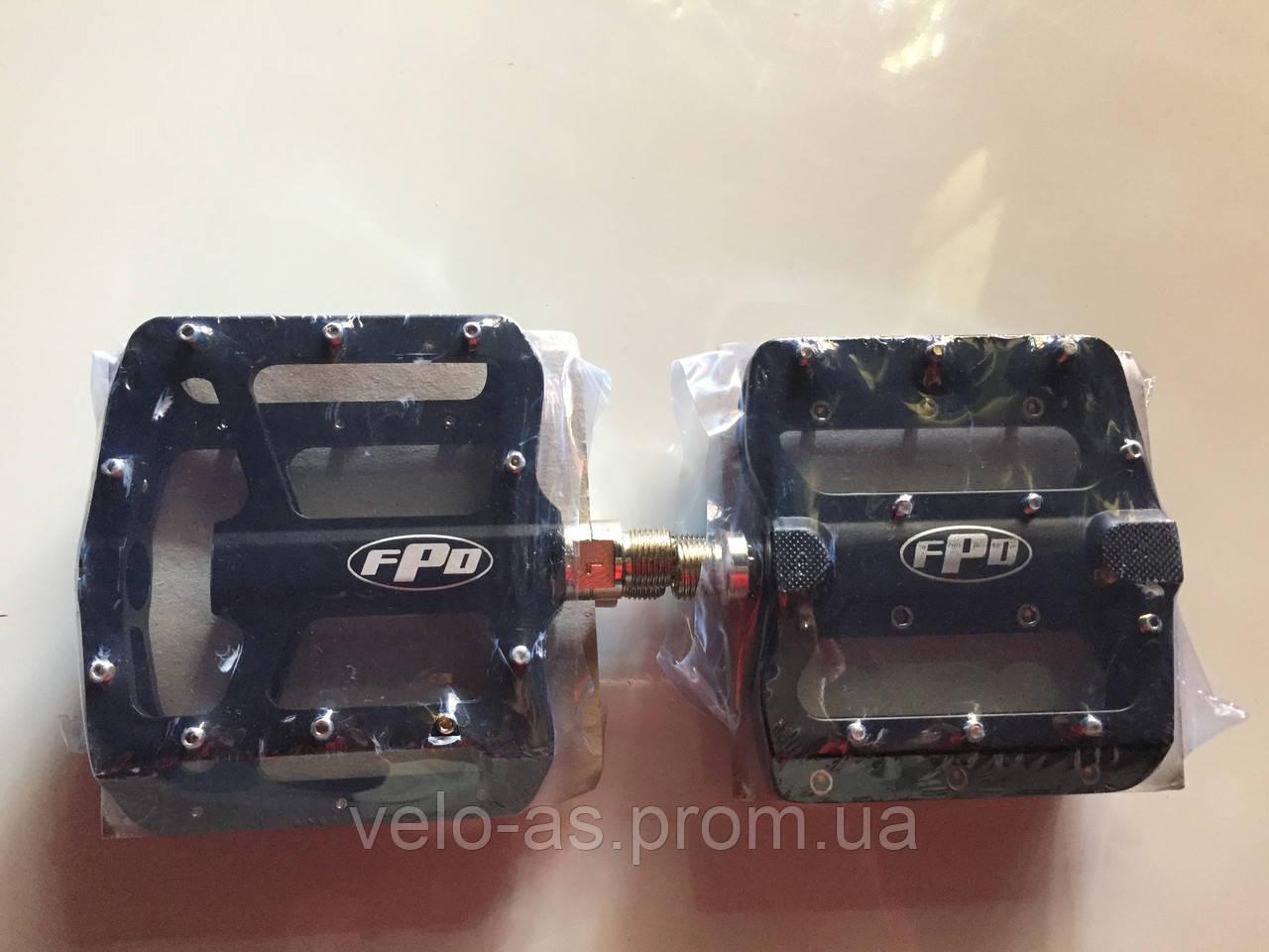 Педаль алюминевая FPD  на проме MTB черная закрытая