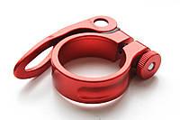 Зажим для подседела Wake 34.9 мм, на эксцентрике, красный