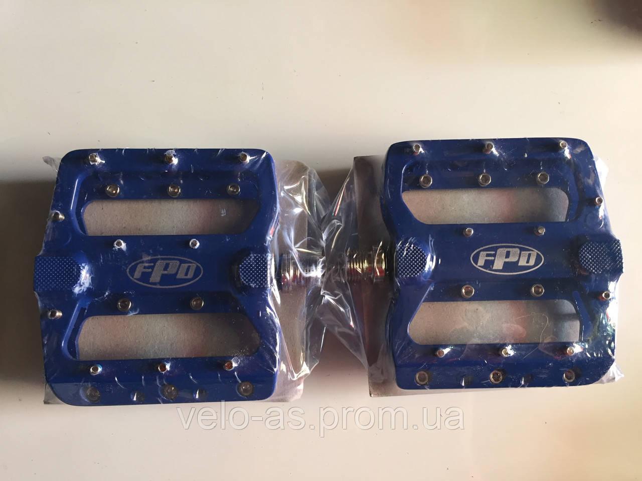 Педаль алюминевая FPD  на проме MTB синяя