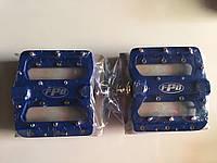 Педаль алюминевая FPD  на проме MTB синяя, фото 1