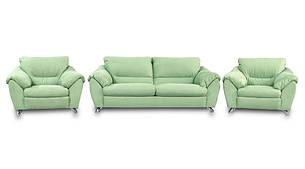 "Комплект мебели ""Эльза"" в коже (3р+1+1), фото 2"