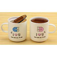 Чашки магниты любви, набор 2 шт.,4 вида