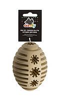 Игрушка-кормушка Comfy Vanilla & Choco Rugby для собак, 12х6 см, фото 1