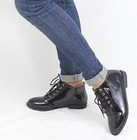Лаковые ботинки экокожа