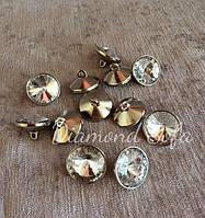 Пуговицы для мебели - кристалл на металлической ножке