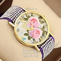 Женские наручные часы Geneva Women Purple\Gold