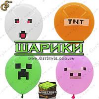 "Шарики Minecraft - ""Minecraft Balloons"" - 1 шт."