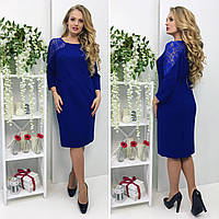 Вечернее кружевное платье 48-54 ( электрик, синий, черный )
