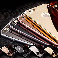 Металлический зеркальный чехол бампер для Apple iPhone 5 / 5S / SE (4 цвета в наличии)