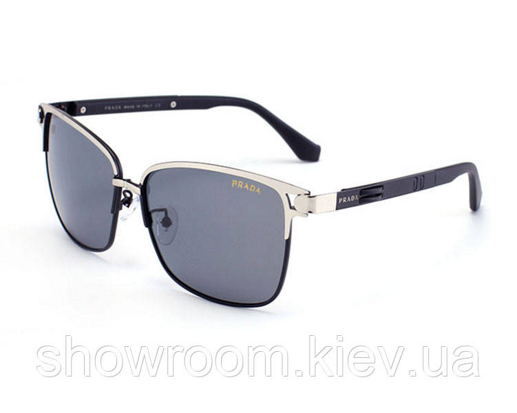 Солнцезащитные очки в стиле Prada (PR 039) silver