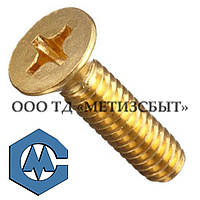 Винт  ГОСТ17475-80; DIN 965; от М3-М12 Медь