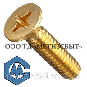 Гвинт ГОСТ17475-80; DIN 965; від М3-М12 Латунь