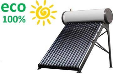 Коллектор SP-C-20 eco100% (водонагреватель) солнечный сезонный с баком и змеевиком напорная система