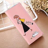 Женский кошелек fashion «Девочка» светло-розовый