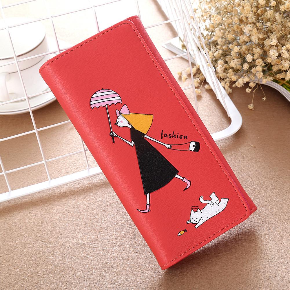 Кошелек женский  fashion «Девочка» бордовый