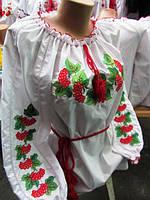 """Вышиванка для девочки """"Калина"""", рост-140-170"""