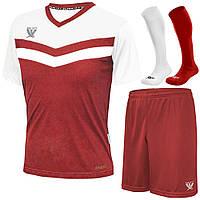 Форма футбольная SWIFT CoolTech Romb с гетрами (красно/белая)