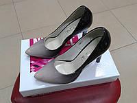 НОВИНКА! Женские классические туфли на высокой шпильке NIVELLE 1494 пудра
