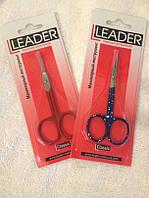 Ножницы загнутые для кутикулы Leader с цветными ручками, фото 1