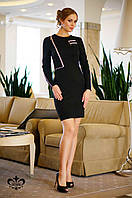 Трикотажное черное женское платье  Вероника Luzana 44-52 размеры