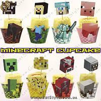 """Капкейки Minecraft - """"Minecraft Cupcakes"""" - 8 шт."""