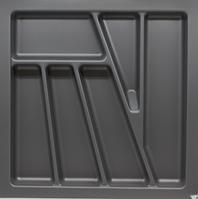Лоток для столовых приборов серый VERSO неподрезной