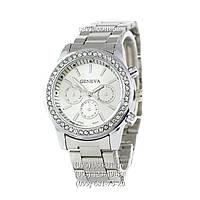 Женские наручные часы Geneva Quartz Silver